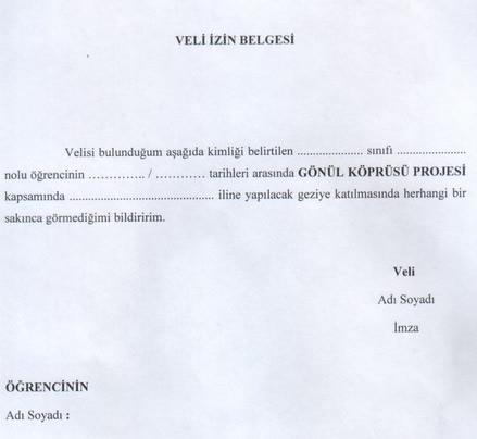 Gezi belgesi veli izin Izin Belgesi