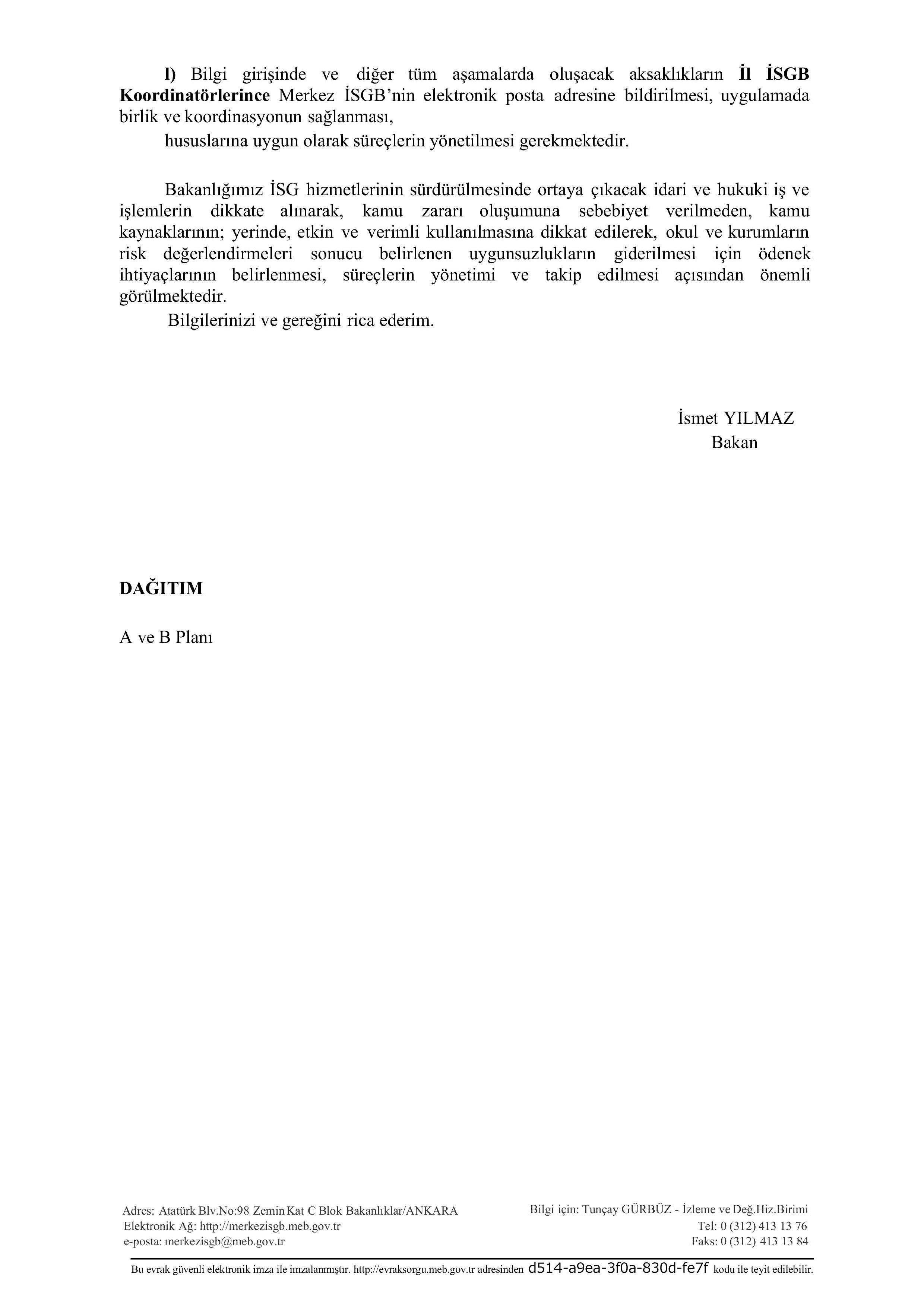 Meb Den Is Sagligi Ve Guvenligi Ihtiyaclarinin Karsilanmasi Genelgesi Memurlar Net