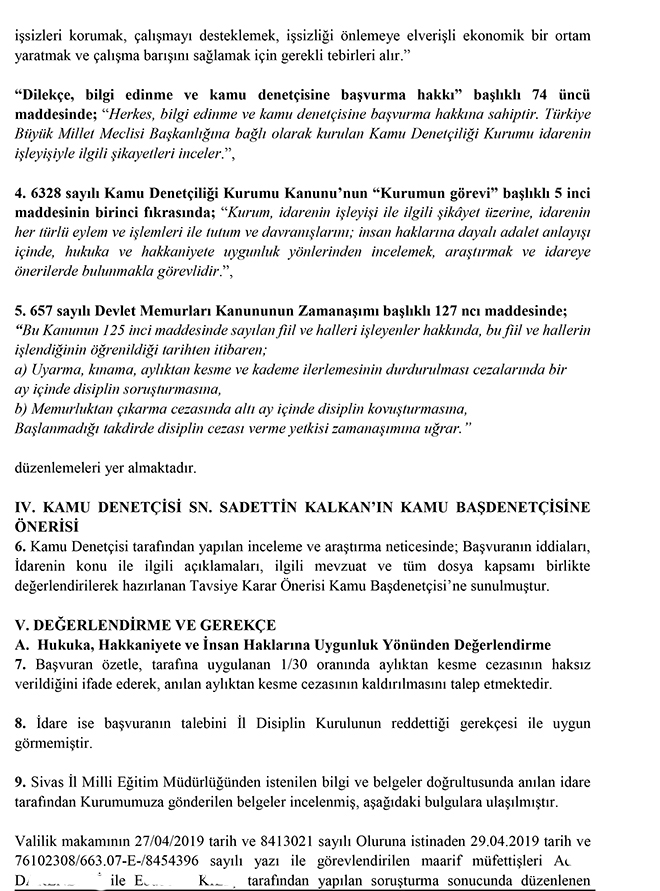 mudur yardimcisina kasdi ceza veren maarif mufettislerine disiplin cezasi konsul hukuk
