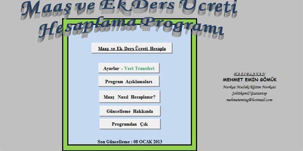 Maa� hesaplama program� (M. E. G�M�K)