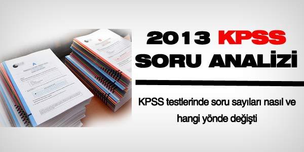 2013 KPSS i�in soru analizi