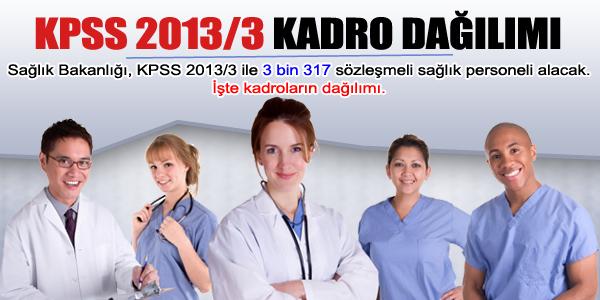 KPSS 2013/3 kadro da��l�m� belli oldu
