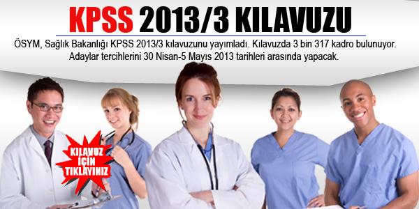 KPSS-2013/3 tercih k�lavuzu yay�mland�
