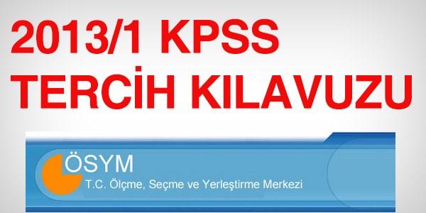 2013/1 KPSS tercih k�lavuzu