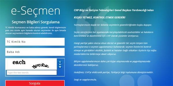 CHP'den 'e-se�men' hizmeti