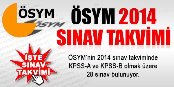 �SYM 2014 S�nav Takvimi