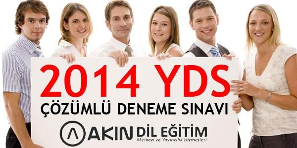 2014 YDS Deneme S�nav�n�n ��z�mleri