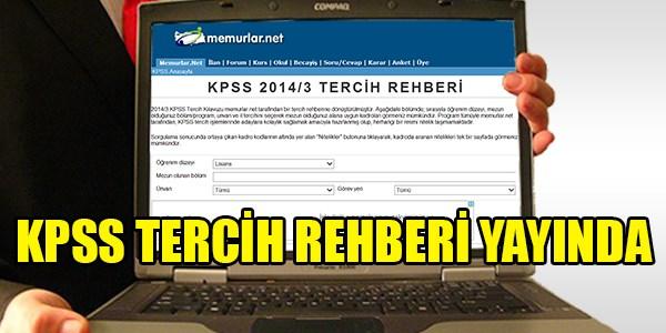 2014/3 KPSS tercih rehberi yay�nda