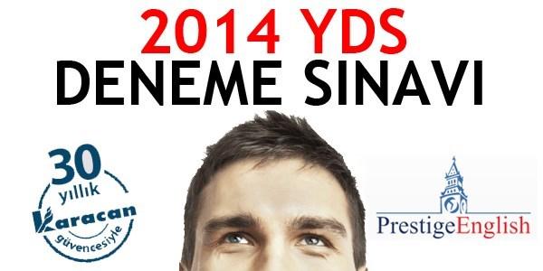 2014 YDS deneme s�nav�n�n cevaplar�