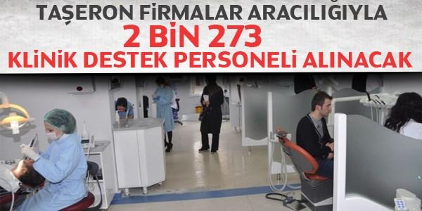 2 bin 273 klinik destek personeli alımı yapılacak