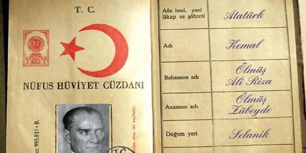 Atatürk'ün ilk nüfus kaydı - Memurlar.Net