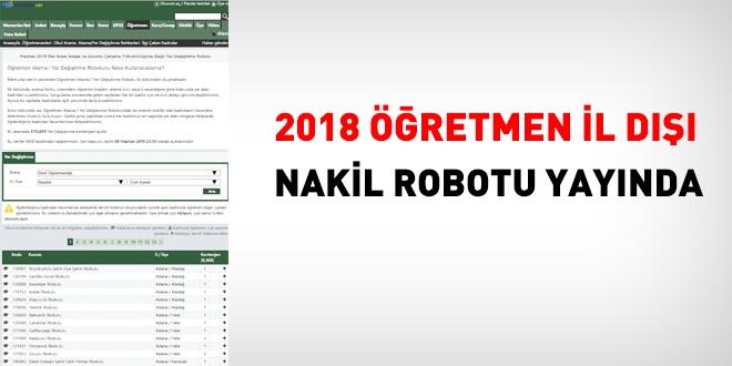 2018 Ogretmen Il Disi Nakil Robotu Yayinda Memurlar Net