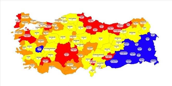 Doğu ve Güneydoğu illeri Kovid-19 risk haritasında 'mavi' kalmak istiyor -  Memurlar.Net