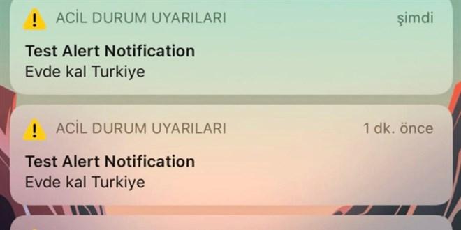 iPhone kullanclarna giden Evde Kal Trkiye uyars iin aklama